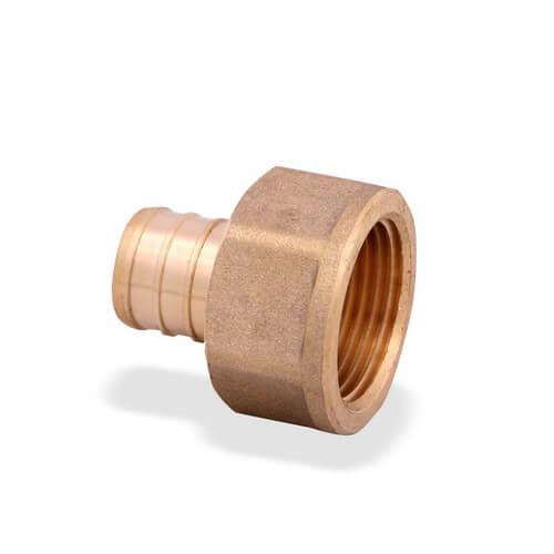 "1/2"" PEX x 1/2"" NPT Brass Female Adapter"