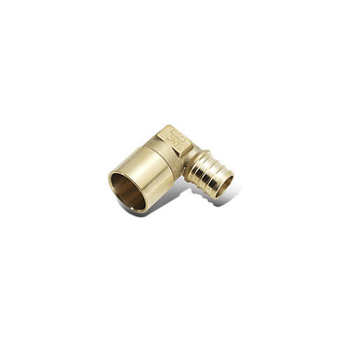 "5/8"" PEX x 3/4"" Copper Pipe Brass Elbow"