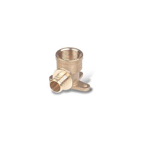 "1/2"" PEX x 1/2"" NPT Brass Drop Ear Elbow (Lead Free)"