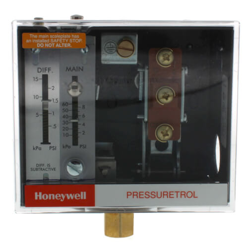 Pressuretrol Controller, Manual Reset, 20 psi to 300 psi