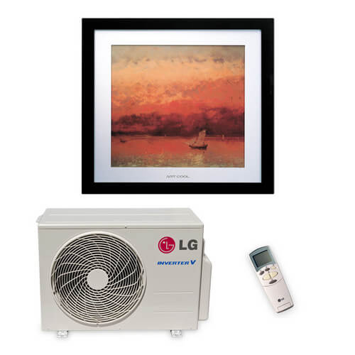 9,900 BTU Art Cool Picture Ductless Single Zone Mini-Split Air Conditioner - Heat Pump