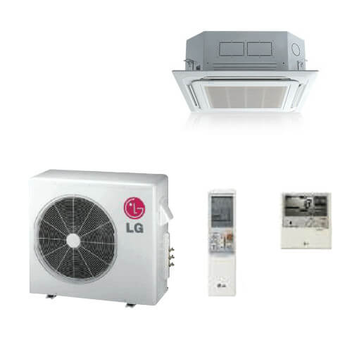 23,000 BTU Ductless Single Zone Mini-Split Ceiling Cassette Heat Pump & Air Conditioner - Inverter