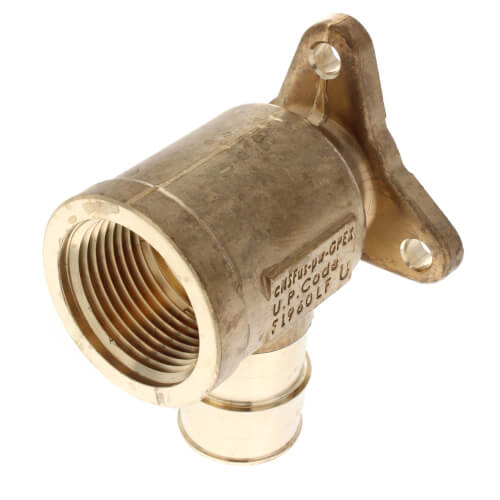 "1/2"" ProPEX x 1/2"" FIP Drop Ear Elbow (Lead Free Brass)"