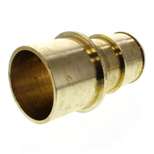 """1"""" PEX Press Copper Tubing Adapter w/ Attached Sleeve (Lead Free Bronze)"""