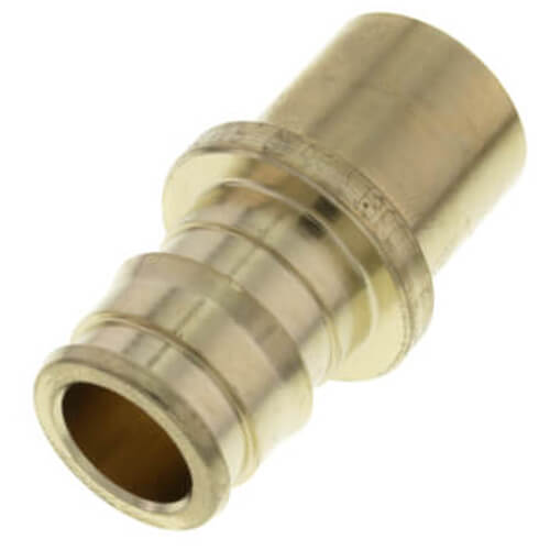 "1/2"" ProPEX x 1/2"" Copper Fitting Adapter (Lead Free Brass) Product Image"
