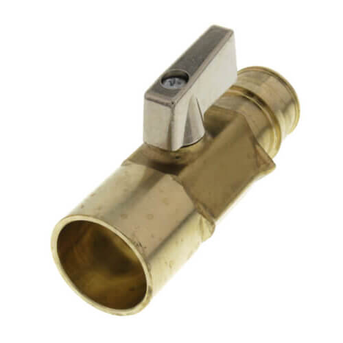 "3/4"" ProPEX x 3/4"" Copper Adapter Brass Ball Valve (Large Bore)"
