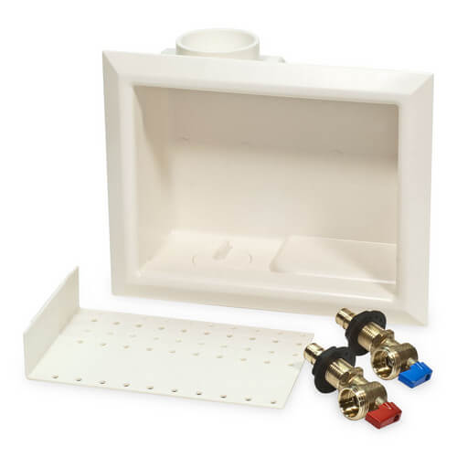 "ProPEX Ice Maker Box w/ Support Brackets, 1/2"" (LF Brass) Valve"