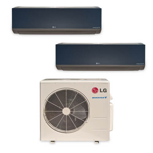 2 Zone Heat-Cool Multi-Split Art Cool Package - (2)LMAN187HVT & (1)LMU369HV - 34,000 BTU