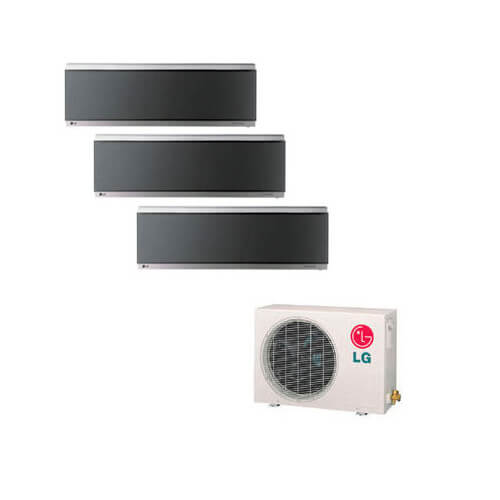 3 Zone Cool-Heat Art Cool Mirror Multi-Split Package - 24,000 BTU