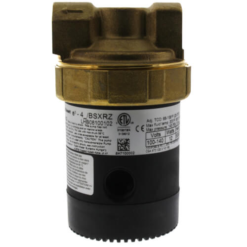 "Brass Ecocirc Circulator w/ Multi-Speed & Plug (1/2"" Union)"
