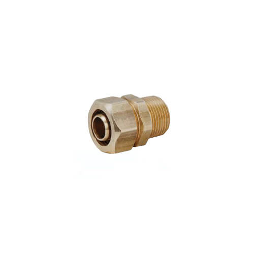 "1/2"" PEX x 1/2"" MIP Brass Compression Coupling"