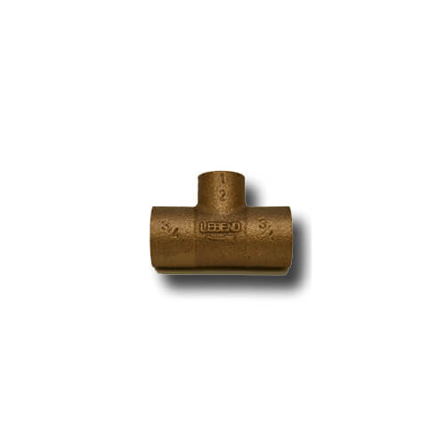 "1-1/4"" x 1/2"" Copper Monoflo Tee"