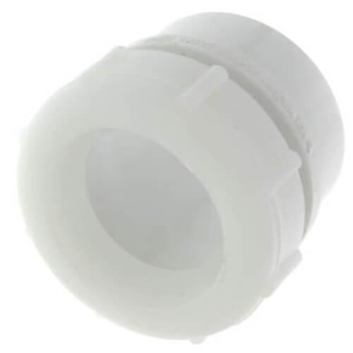 """1-1/2"""" PVC DWV Male Trap Adapter w/ Plastic Nut (Spigot x Slip)"""