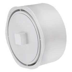 "10"" x 8"" PVC DWV Cleanout Adapter w/ Plug"