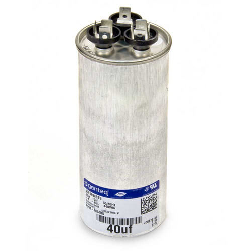 440V Round Dual Capacitor 40/5 MFD Product Image