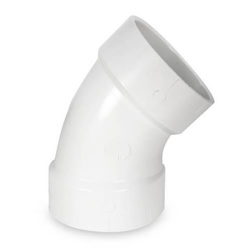 "8"" PVC Sch. 40 45° Elbow"