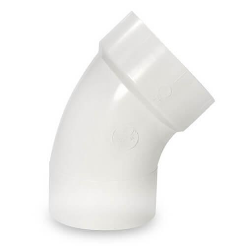 """8"""" PVC DWV 45° Elbow"""