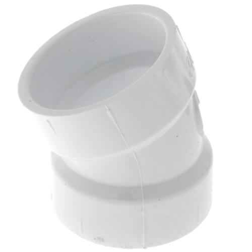 "1-1/2"" PVC DWV 22.5° Elbow Product Image"