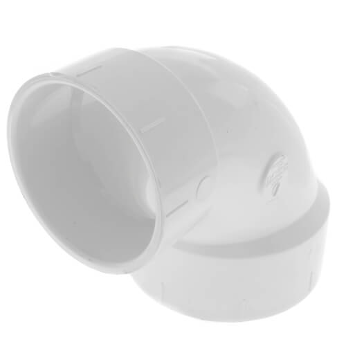 "3"" x 4"" PVC DWV 90° Closet Elbow Product Image"
