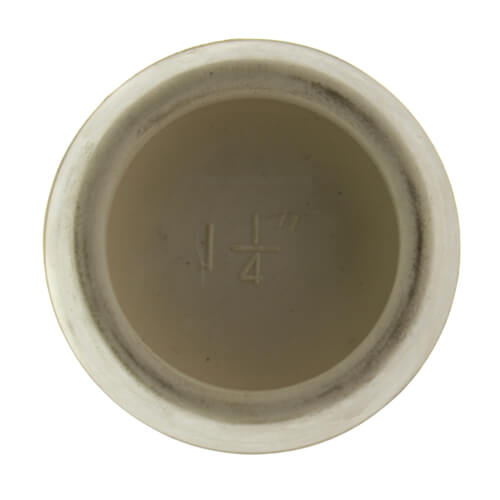 "1-1/2"" White Hollow Rubber Basin & Tub Stopper"