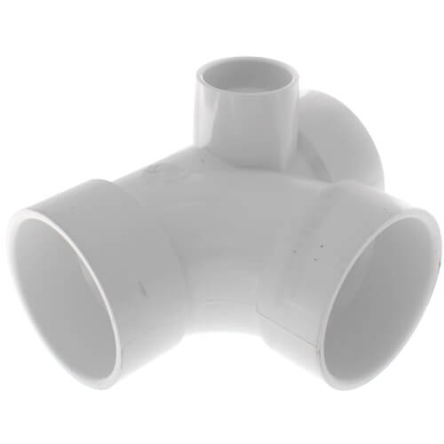"3"" PVC DWV Sanitary Tee w/ 1-1/2"" Right Side Inlet"
