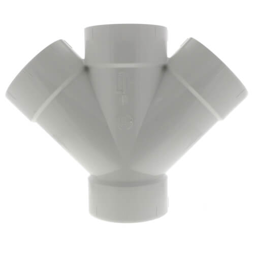 """6"""" PVC DWV Wye and 45° Elbow Combo"""