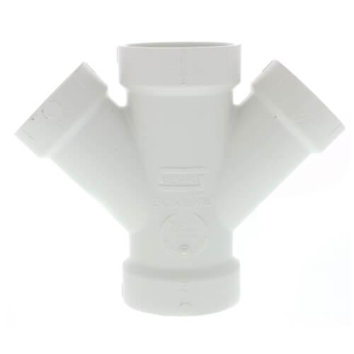 """2"""" x 1-1/2"""" PVC DWV Double Wye Product Image"""