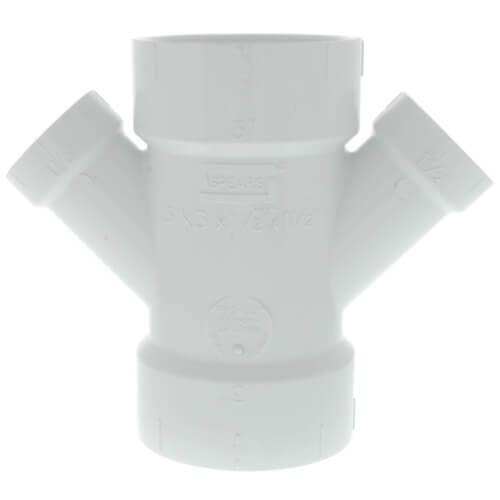 """3"""" x 1-1/2"""" PVC DWV Double Wye Product Image"""