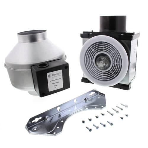 "PB270H-2 Premium Bath Fan w/ Dimmable Halogen Light (Dual Grille), Uses 4"" & 6"" Duct"
