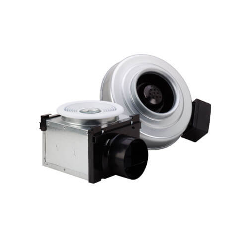 """PB110H Premium Bath Fan w/ Dimmable Halogen Light (Single Grille), Uses 4"""" Duct Product Image"""
