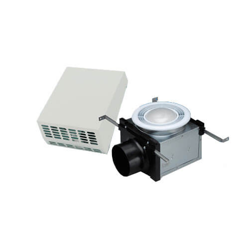 "PBW110F Exterior Wall Mount Bath Fan w/ Fluorescent Light, 4"" Duct"