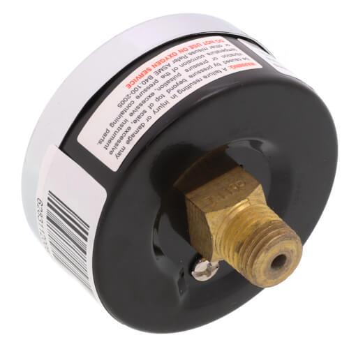 "2-1/2"" PEM Dual Scale Economy Pressure Gauge (0-160 PSI) Product Image"