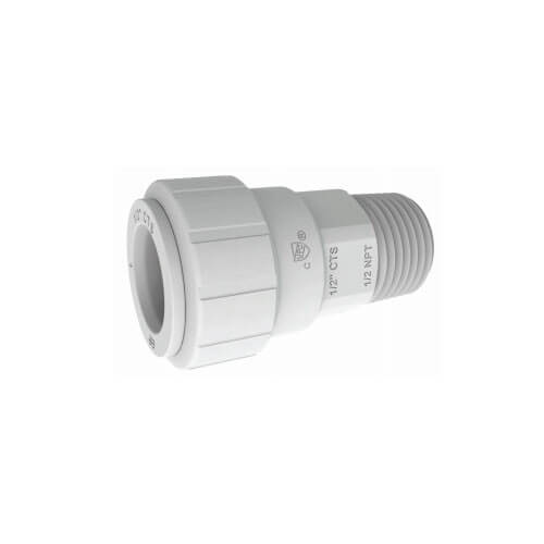 "1/2"" CTS x 1/2"" NPT Speedfit Secure Male Connector"
