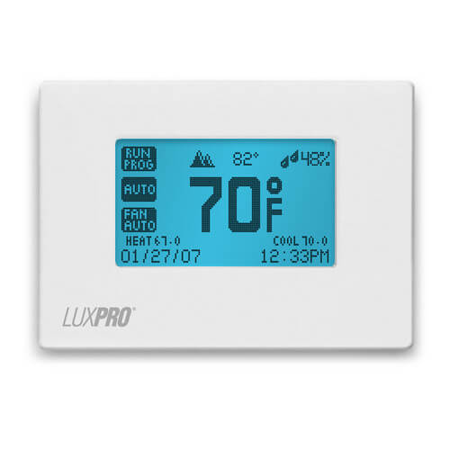 Programmable Thermostat 7 Day Programming, Touchscreen (3 Heat - 2 Cool)