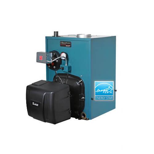 PV8H3, 109,000 BTU V8H Water Boiler w/o Tankless Coil w/ Beckett Burner (Oil)