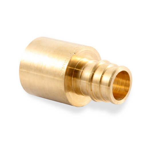 Q4517510 uponor wirsbo q4517510 propex brass copper for Pex pipe vs copper