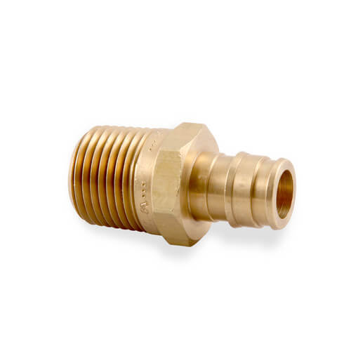 "1/2"" ProPEX x 1/2"" NPT Lead Free Brass Male Adapter"