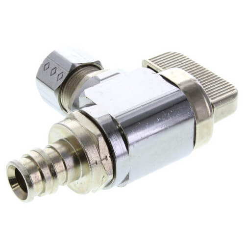 "3/8"" ProPEX x 3/8"" Compression Angle Ball Valve Product Image"