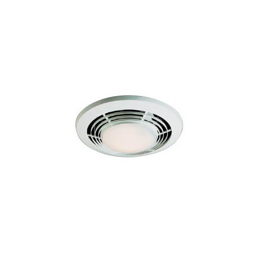 Nutone Round Bathroom Fan Light: Model QT9093WH Heater, Fan