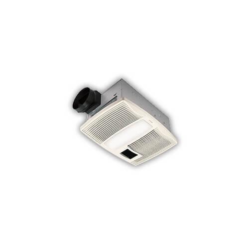 Round Bathroom Fan Light Combination: QTX110HL Ultra Silent Heater