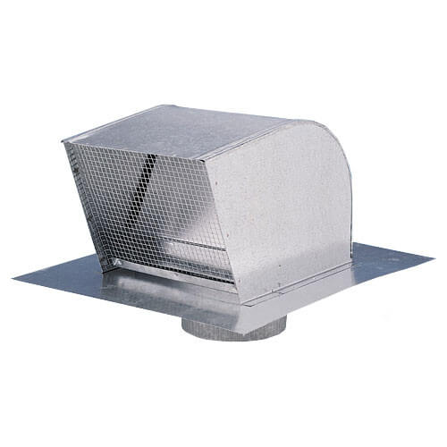 "Galvanized Steel Roof Cap, 12"" Duct"
