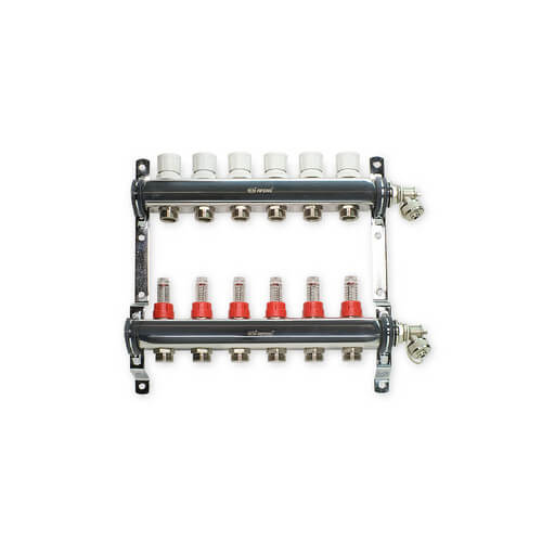 "6 Loop Stainless Steel Manifold Package (1/2"" PEX-AL-PEX)"