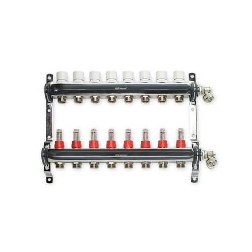 """8 Loop Stainless Steel Manifold Package (1/2"""" PEX-AL-PEX)"""