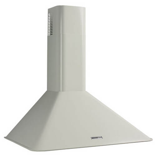 "30"" White Wall Mount Chimney Hood w/ Internal Blower (270 CFM)"