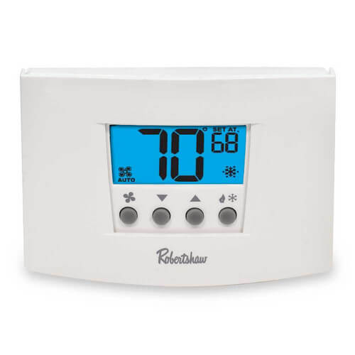 Digital 7 Day Programmable Thermostat Heat Pump/Single Stage (1 Heat/1 Cool)