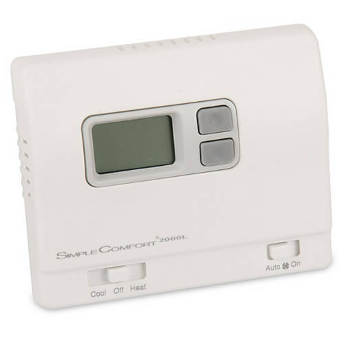 Non-Programmable SimpleComfort Thermostat - 1 Heat/1 Cool/1 Heat Pump