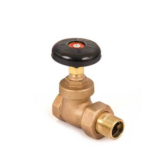 "1-1/2"" (FIP x Male Union) Steam Angle Radiator Valve"