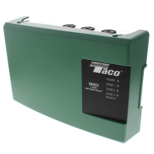 sr503 4 taco sr503 4 3 zone switching relay