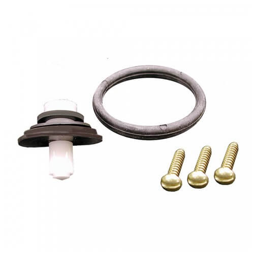"1-1/2"" White P-Trap, With 3-Nuts, threaded adapter"
