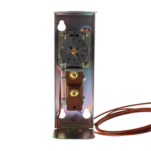 Remote bulb Commercial Temperature Controller, 0 F to 100 F, 5 ft. capillary, Copper bulb sensing element